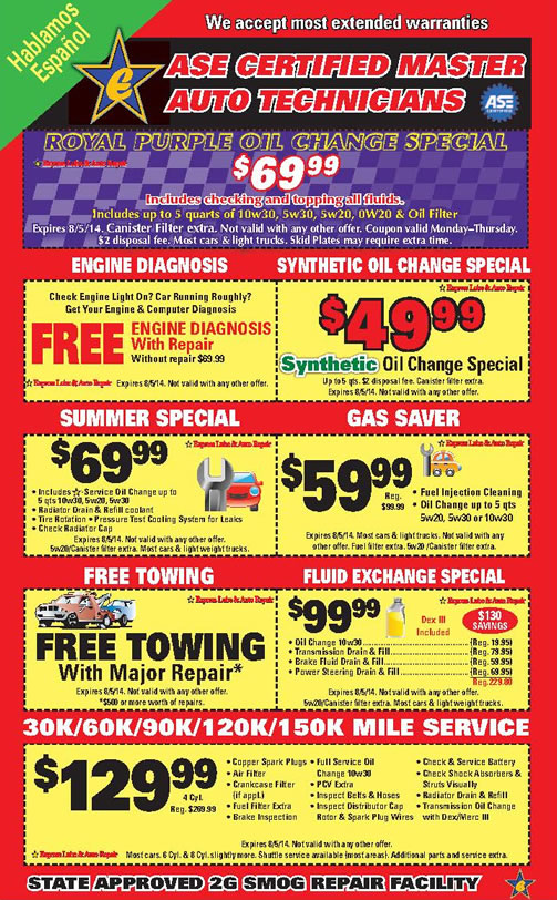 Deals On Oil Changes >> Deals On Car Service And Oil Change
